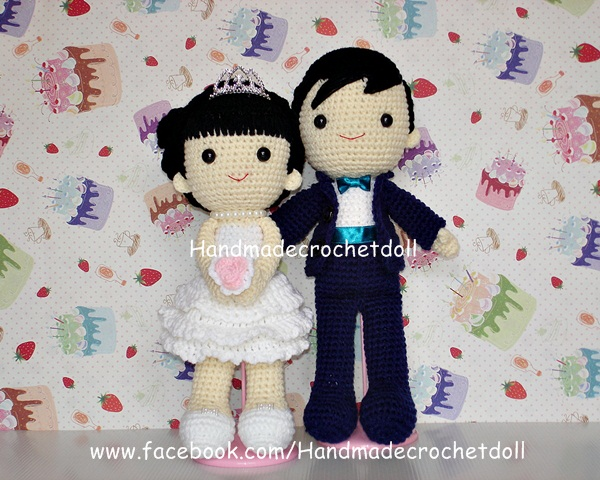 ตุ๊กตาแต่งงาน เจ้าบ่าวเจ้าสาว 12 นิ้ว