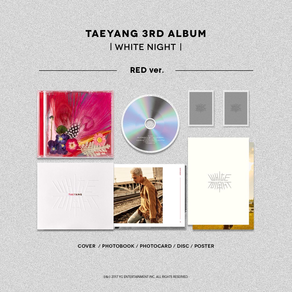 อัลบั้ม #TAEYANG - TAEYANG 3RD ALBUM [RED NIGHT] : RED VER.