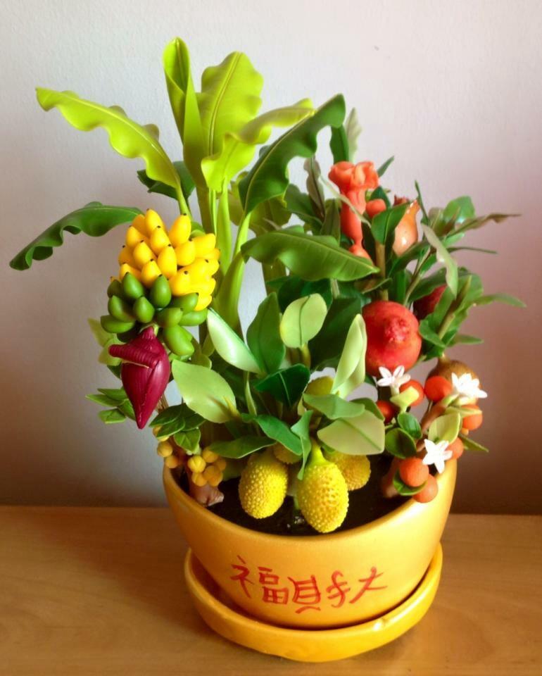 C022-สวนต้นไม้มงคล ทับทิม มะยม ส้ม กล้วย ขนุน_ไซร์ 3-6 นิ้ว