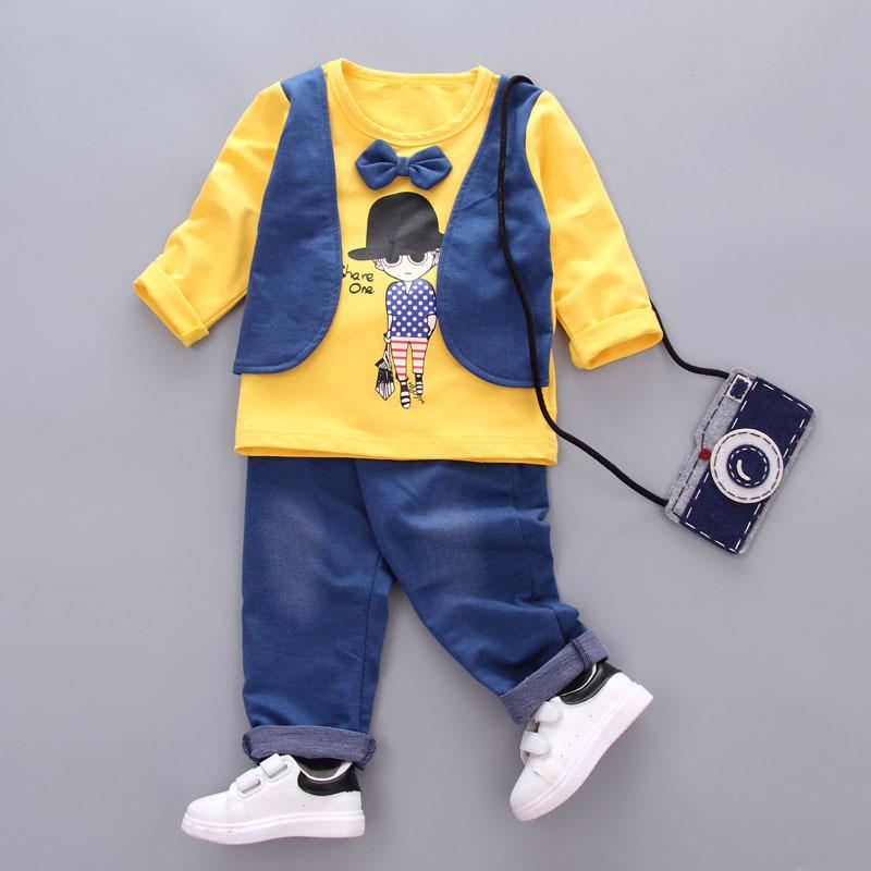 ชุดเซตเสื้อกั๊กแขนยาวลายเด็กผู้ชายสีเหลือง แพ็ค 4 ชุด [size 1y-2y-3y-4y]