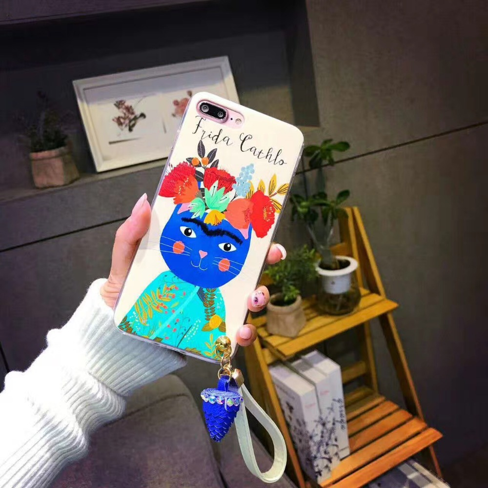เคส animal Frida Kahlo สายคล้องข้อมือ ไอโฟน 7 4.7 นิ้ว