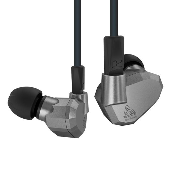 Kz Zs5 หูฟัง 4ไดร์เวอร์ 2Dynamic 2Balance ราคาไม่แพงถอดสายได้