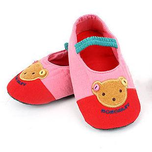 รองเท้าใส่ในบ้านลายหมีสีชมพู แพ็ค 3 คู่ [size 16.5-19]