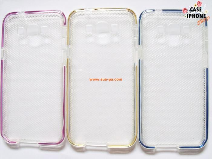 เคสยางซิลิโคนแต่งขอบข้างอลูมิเนียมสี Samsung Galaxy A8
