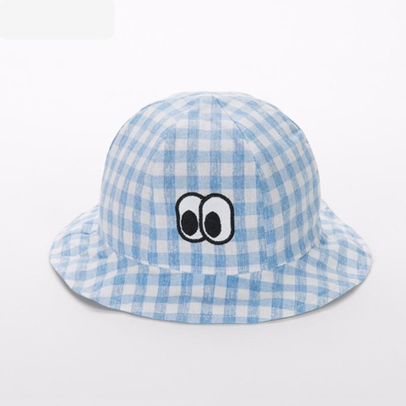 หมวกปีกลายสก็อตสีฟ้าลายดวงตา แพ็ค 3 ชิ้น