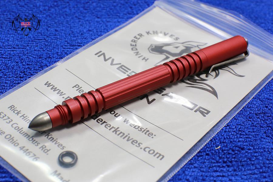 Aluminum Hardcoat Red Anodized Investigator Pen
