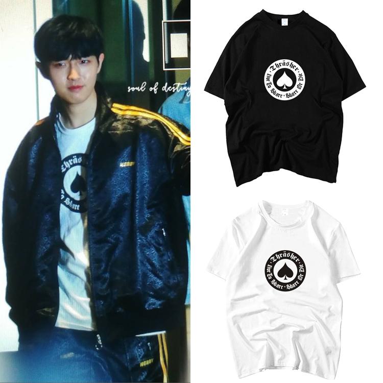 เสื้อยืด (T-Shirt) ลายโพดำ แบบ Jaehwan