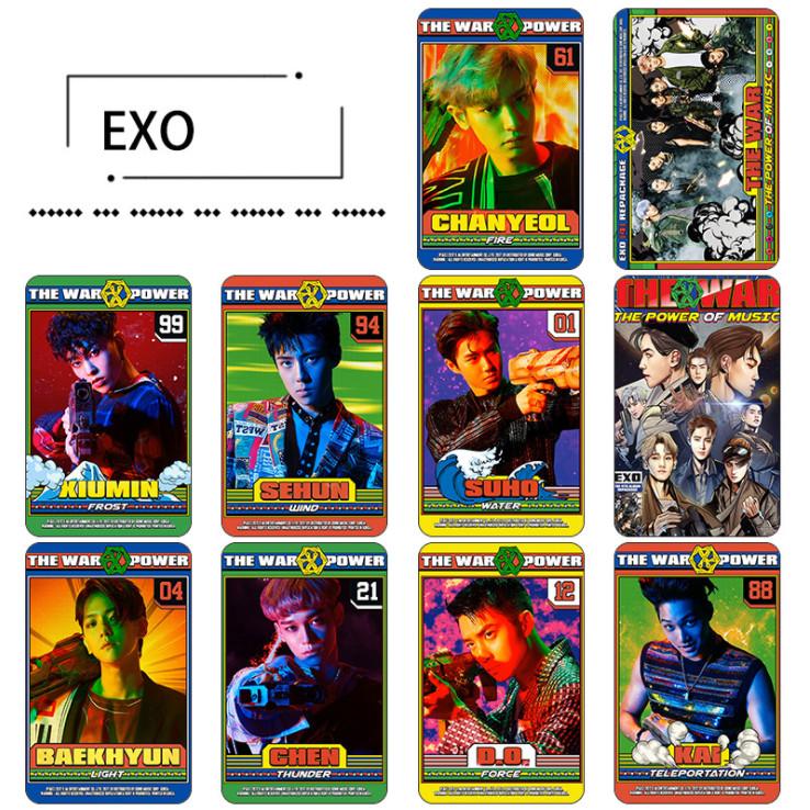 สติ๊กเกอร์การ์ด EXO - THE WAR