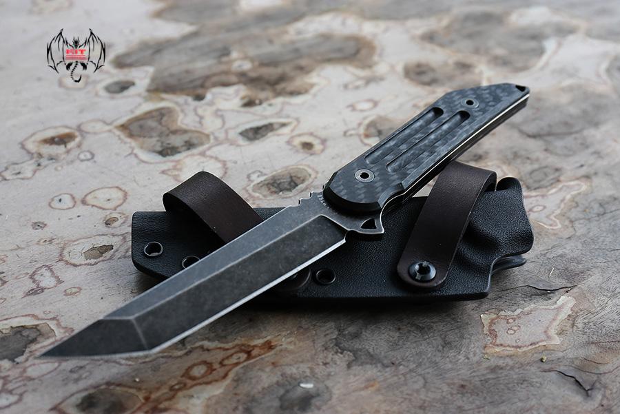 Kwaiback Fixed Blade CF M390 Black Fallout