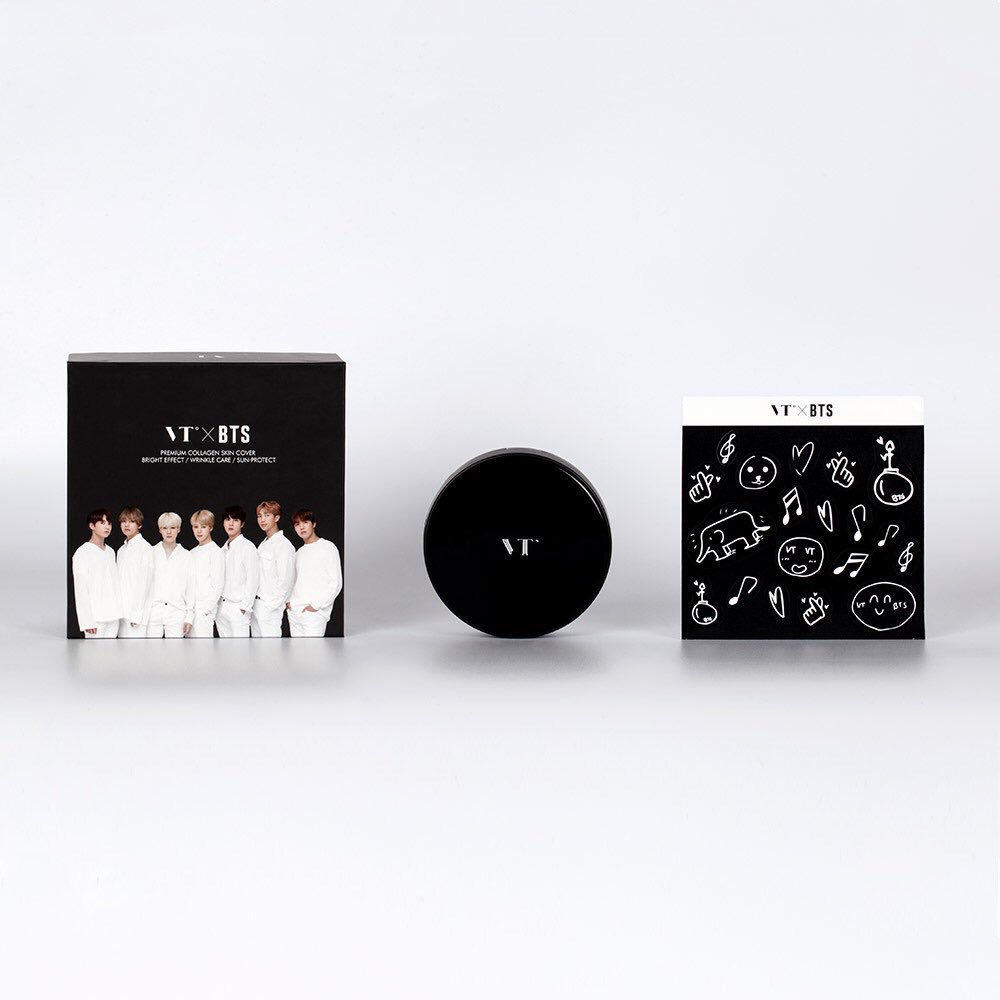 [#BTS] VT X BTS COLLAGEN PACT BLACK EDITION