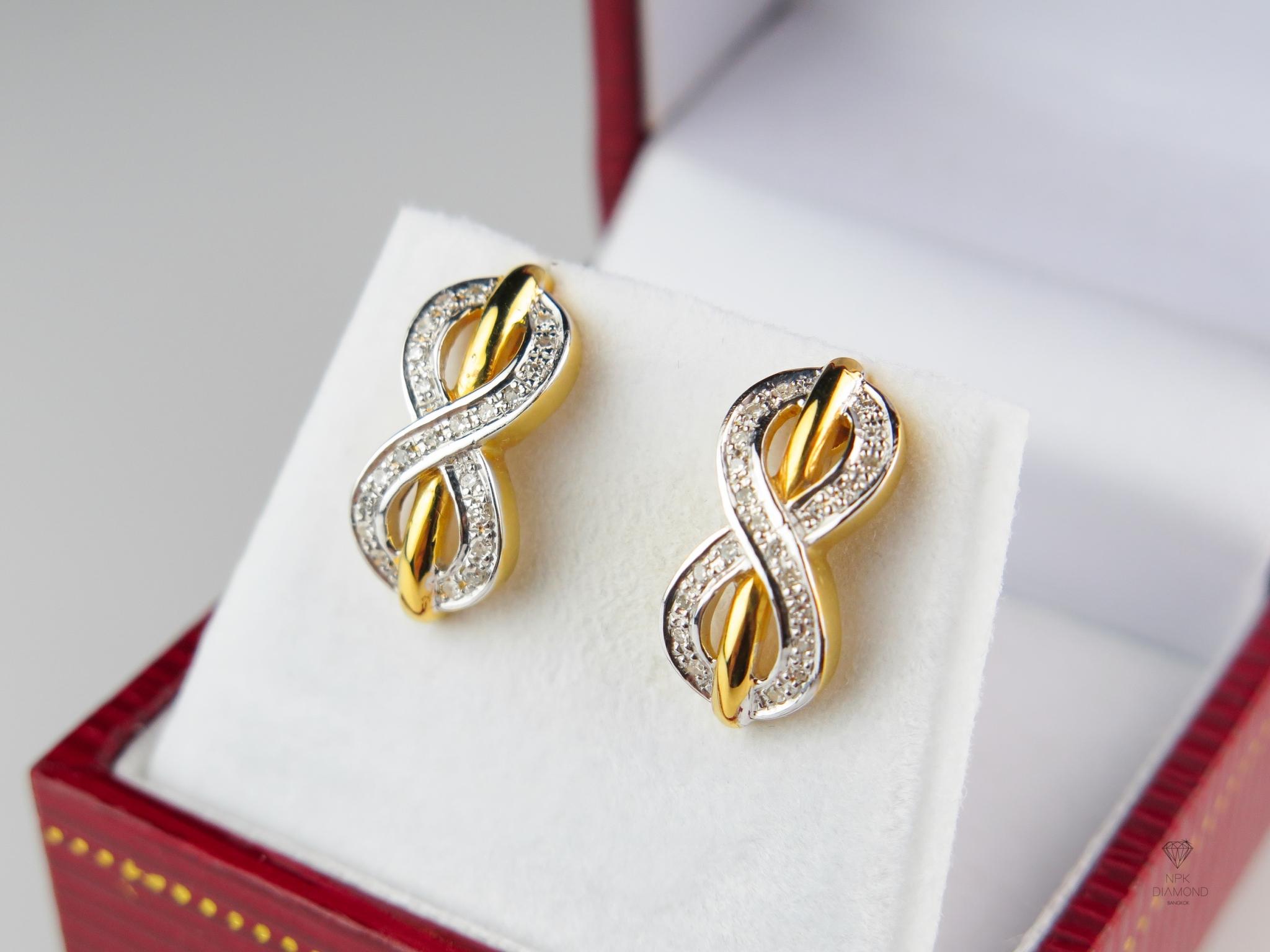 ต่างหู 9K Infinity Tiffany & Co