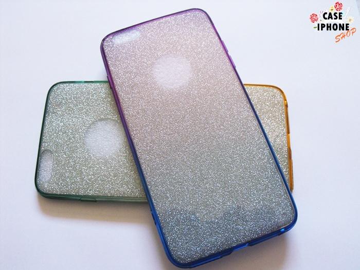เคสสายรุ้งกากเพชร 2 ชั้น ไอโฟน 6/6s plus 5.5 นิ้ว