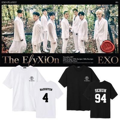 เสื้อยืด เสื้อแฟชั่นเกาหลี #EXO THE EXO'rDIUM 4 (ระบุสี ชื่อศิลปิน ที่ช่องหมายเหตุ)