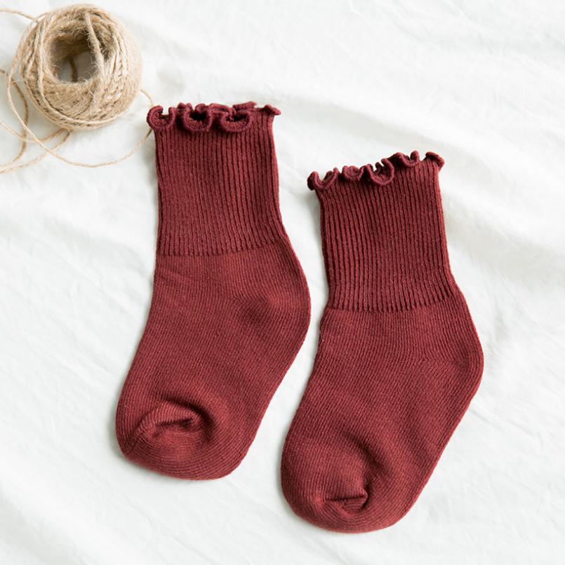 ถุงเท้ายาว สีแดง แพ็ค 12คู่ ไซส์ S (ประมาณ 1-3 ปี)