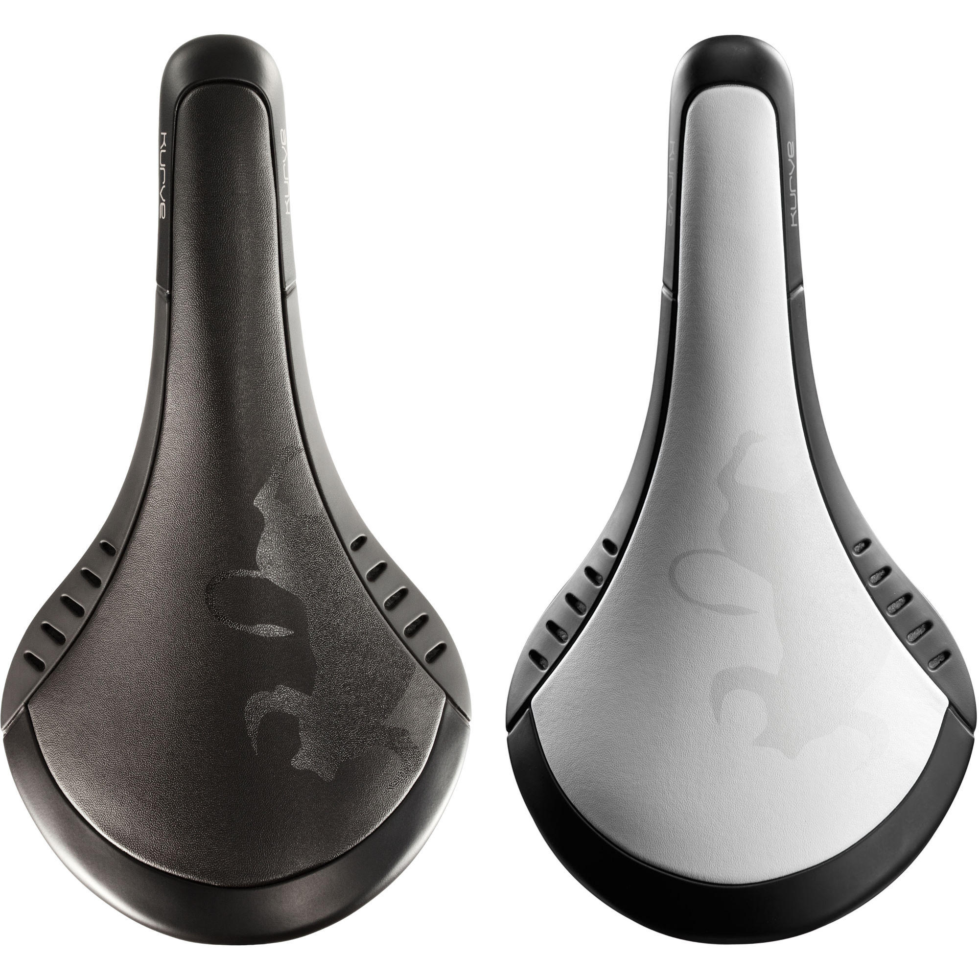 เบาะ Fizik Kurve Bull Carbon Saddle ,Black and White