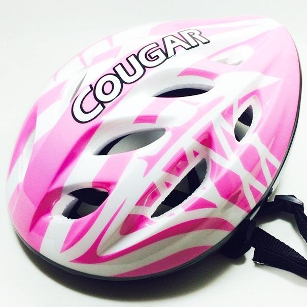หมวกโฟมป้องกันการกระแทก สีชมพู-ขาว Size L