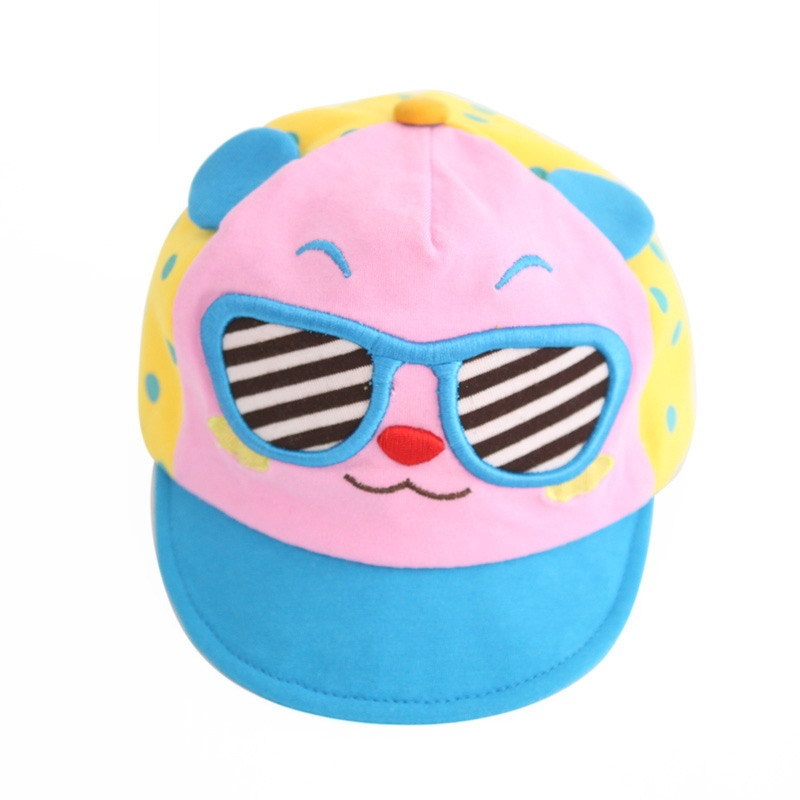 หมวกน้องหมีใส่แว่นสีชมพู แพ็ค 3 ชิ้น