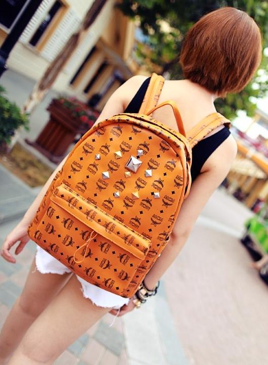 กระเป๋าแฟชั่น(สีส้ม)MCM