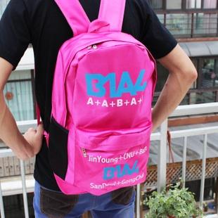 กระเป๋าสะพายหลัง B1A4 สีชมพู