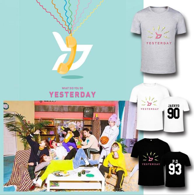 เสื้อยืด (T-Shirt) Block B - Yesterday (ชื่อเมมเบอร์)
