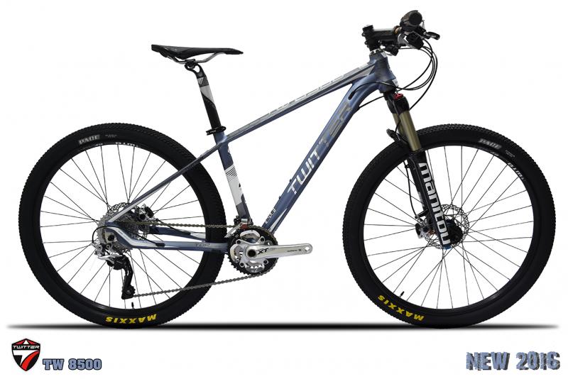 จักรยานเสือภูเขา TWITTER รุ่น TW8500 22สปีด XT เฟรมอลู