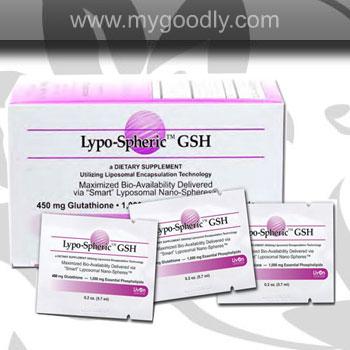 Lypo-Spheric GSH 450 mg (กลูต้าเจล) 5 ซอง ราคา 450 บาท