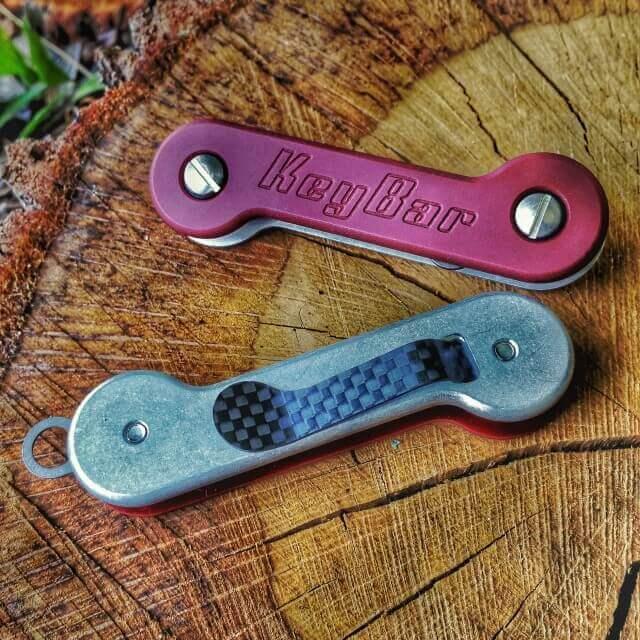 Key Bar Red G10/Aluminum