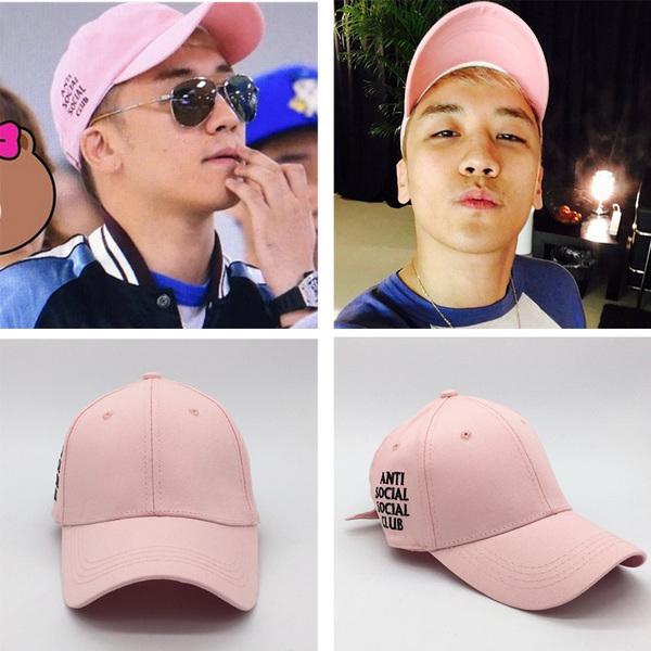 หมวก Bigbang สีชมพู
