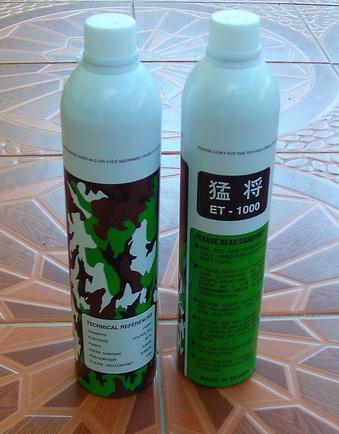 ขายแก๊สกระป๋อง BB Gun Gas ET-1000 แก๊สลายพราง แก๊สแรงไต้หวัน TAIWAN ขนาด 1100 ml.