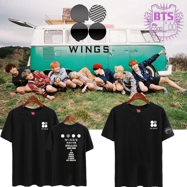 เสื้อยืด (T-Shirt) BTS WINGS