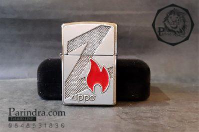 """ไฟแช็ค Zippo แท้ """" Zippo 29104 Emblem Z Flame Logo High Polish Chrome """" แท้นำเข้า 100%"""