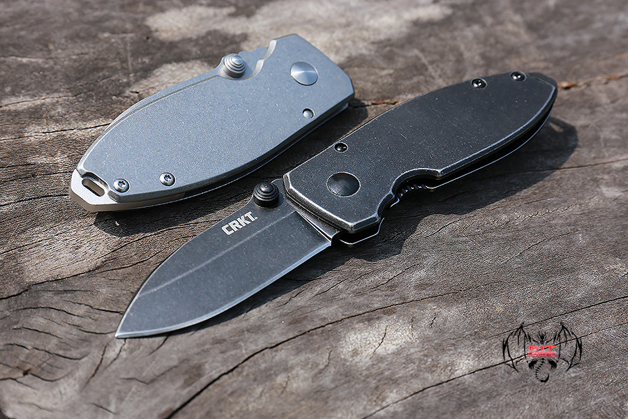 CRKT Burnley Squid Frame Lock Knife Black Stonewash 2490KS