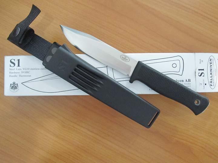 "Fallkniven S1z Forest Knife 5.1"" VG10 Satin Blade, Zytel Sheath"