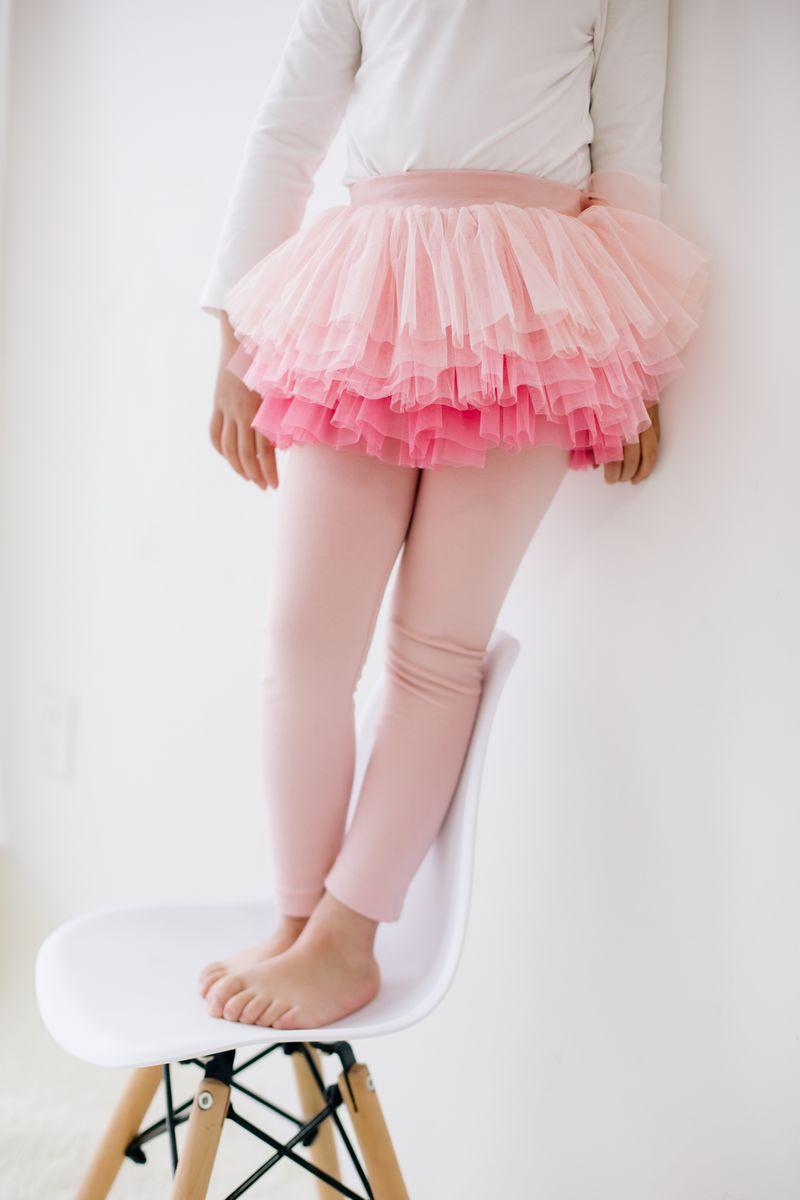 เลคกิ้งกางเกงกระโปรงสีชมพู แพ็ค 5 ชิ้น [size 2y-3y-4y-5y-6y]
