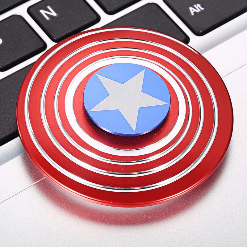 ของเล่นกำลังฮิต Hand Spinner หมุนดี น้ำหนักเยี่ยม ลาย Captain America