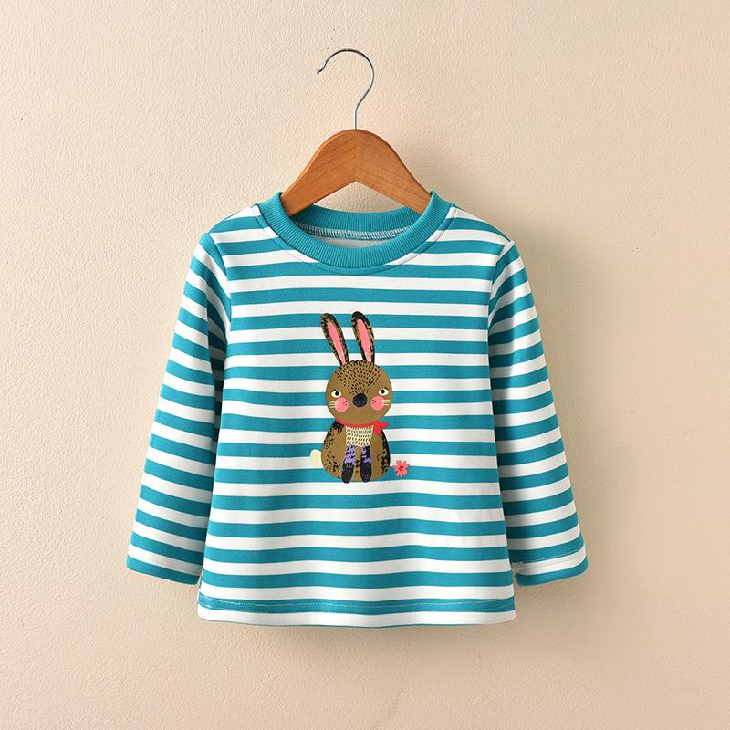 เสื้อแขนยาวกันหนาวลายกระต่ายสีเขียว (ผ้าหนานะคะ) [size 2y-4y-5y-6y]