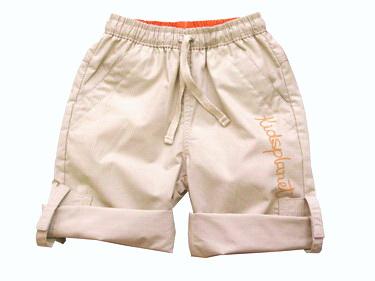 KPSP114 Kidsplanet กางเกงเด็กชายขายาวขาพับเบิ้ลขึ้นใส่เป็น 3-4 ส่วนได้ เอวรูด สีเบจ เนื้อผ้ามีดีเทล 100% COTTON เหลือ Size 12M