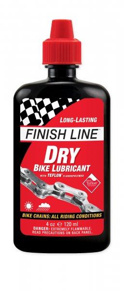 น้ำมันหยอดโซ่แบบแห้ง Finish Line Dry bike Lubricant ขนาด 4Oz,120ml. (finishline ฝาแดง)