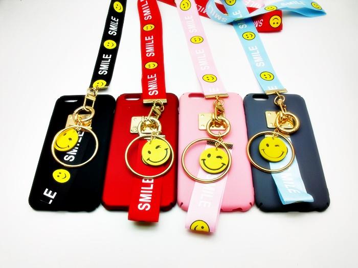 เคส ไอโฟน 6/6s 4.7 นิ้ว Pc เนื้อด้าน+สายคล้อง Smile