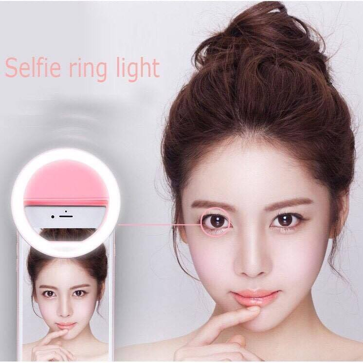 Selfie Ring Light RK-14 ของแท้ ไม่ต้องใส่ถ่าน ชาร์จไฟได้ (สีชมพู)