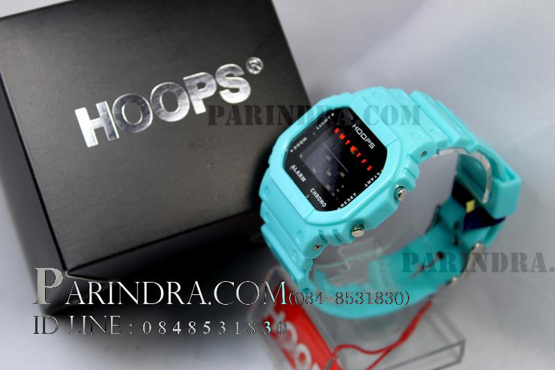 นาฬิกา Hoops ระบบดิจิตอลสีฟ้าทึบ