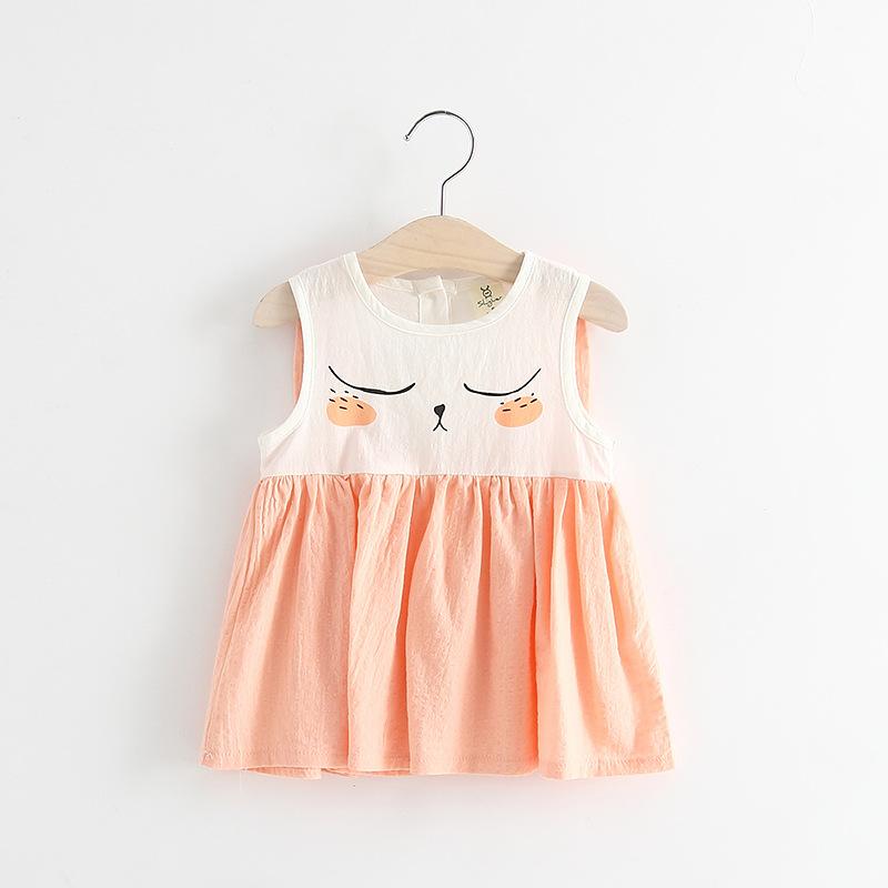 ชุดเดรสกระต่ายหลับตาสีส้ม [size 1y-2y-4y]