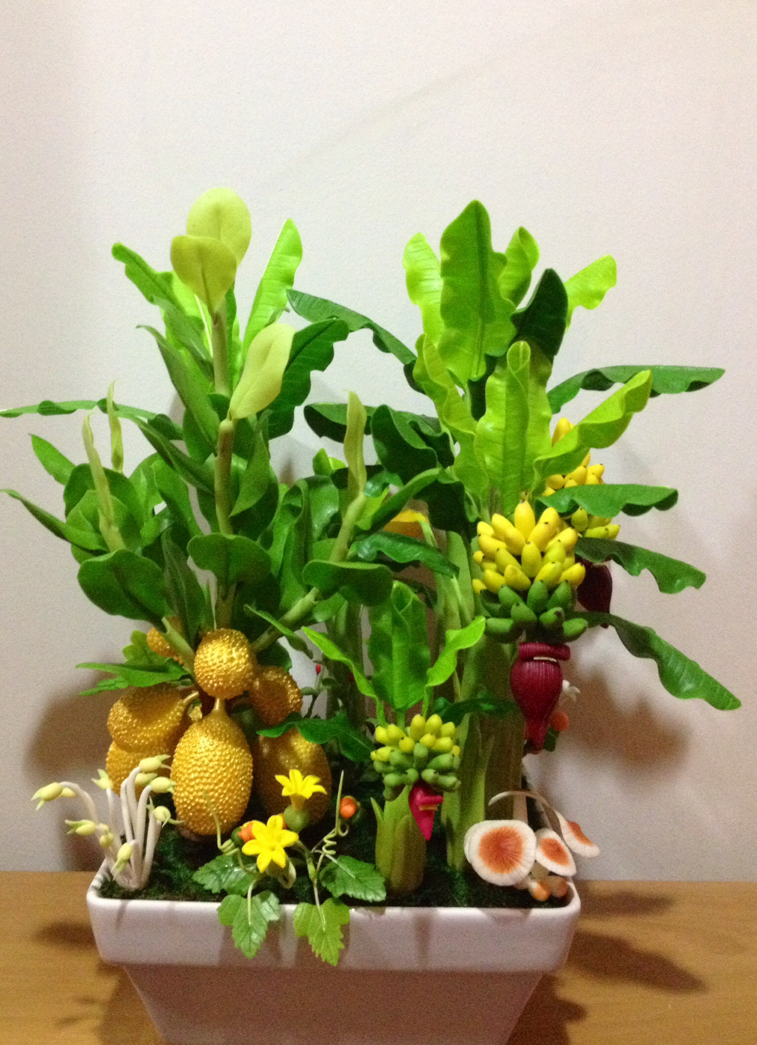C015-สวนต้นไม้มงคล มะยม ส้ม กล้วย ขนุน 3-12 นิ้ว