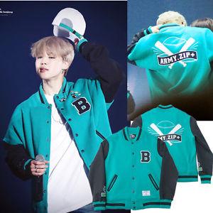 เสื้อเบสบอล เสื้อคลุม #BTS Baseball Jumper Coat ARMY.ZIP+ Varsity Jacket (แฟนเมด)
