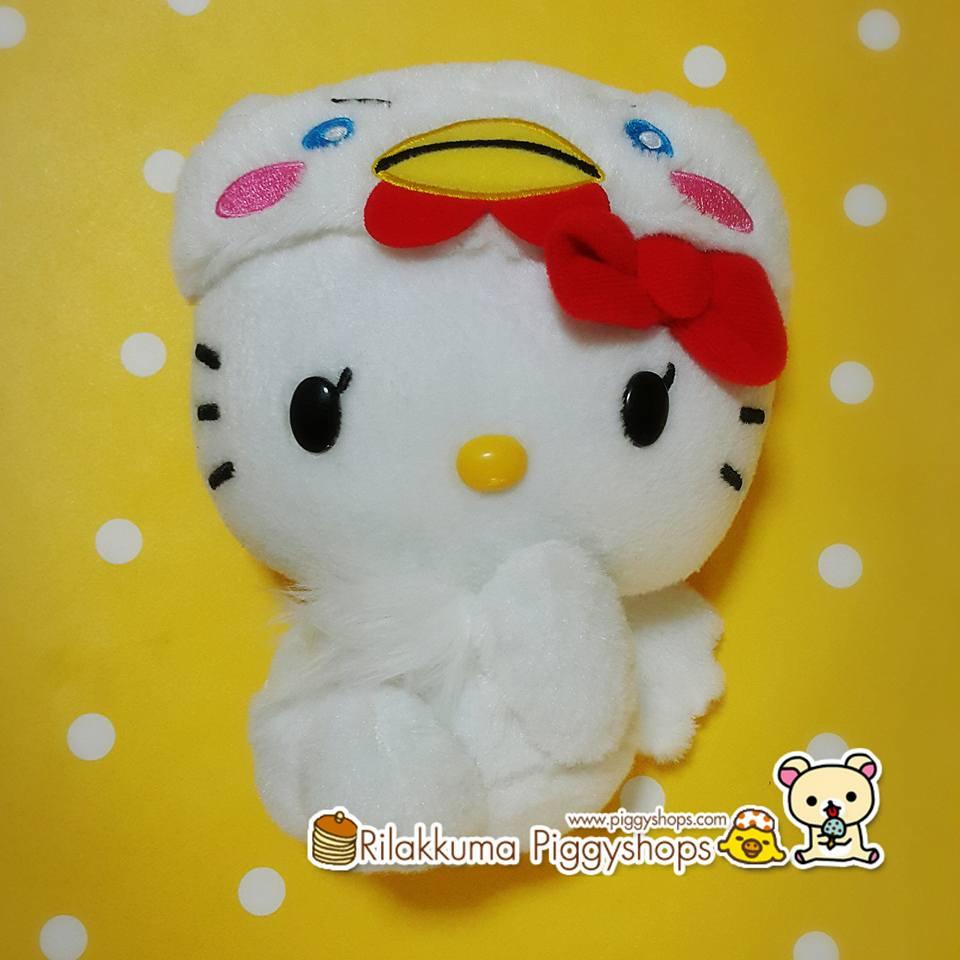 Rare Limited Edt. SANRIO HELLO KITTJapanese Costume ตุ๊กตาเฮลโหลคิตตี้ มาในชุดเชิดสิงโตสีขาวน่ารักๆมากจ้า