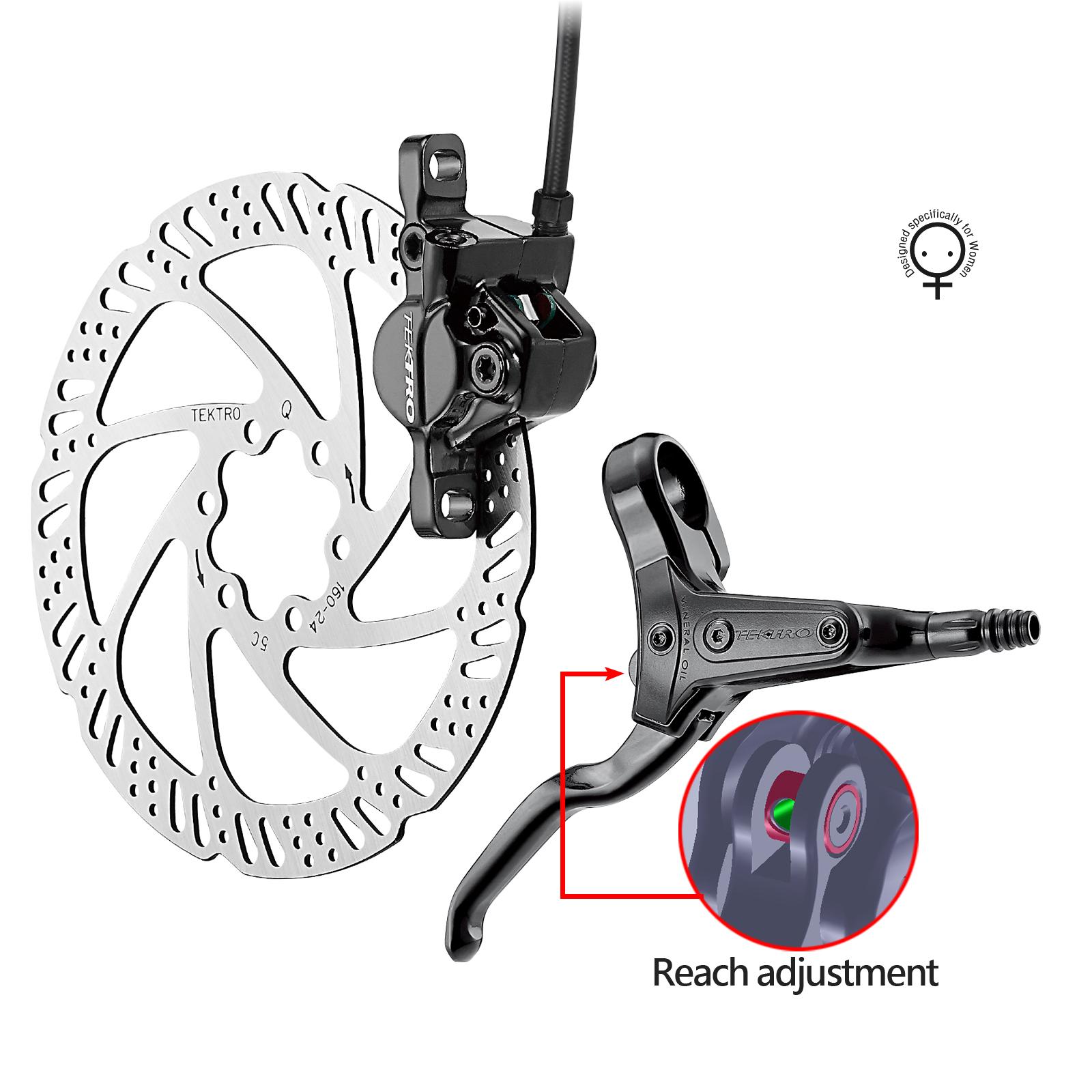 ดิสเบรคน้ำมัน Tektro HD-M285 Hydraulic Disc Brake (หน้า หรือ หลัง) มือเบรค+คาลิเปอร์+ใบดิสเบรค+สาย