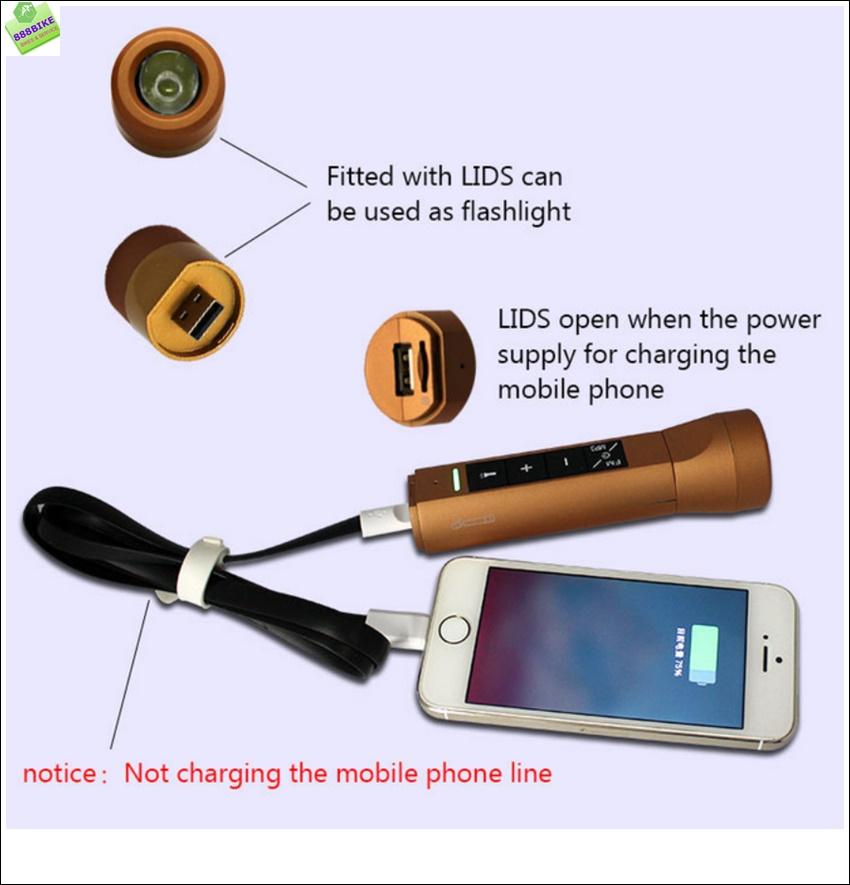 เครื่องเล่น MP3 Multifuntion Portable Multi-Function Music Torch ,LDS-005