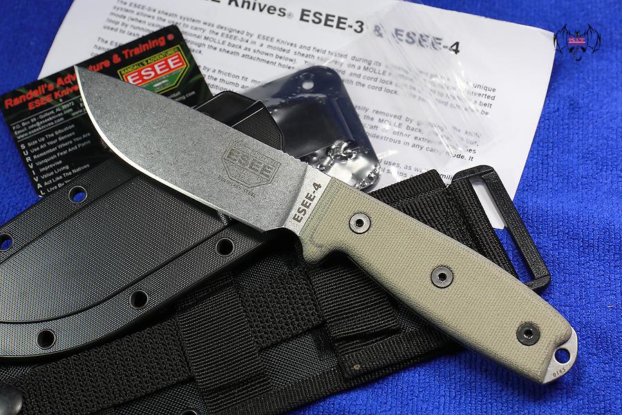 Esee 4PMB SS Model 4 Stainless Bead Blast Plain Blade