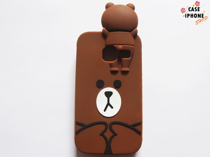 เคสตุ๊กตาหมีบราวน์ ซัมซุง J1 mini