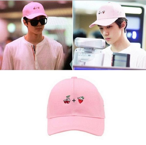 หมวกสีชมพู Sehun Exo